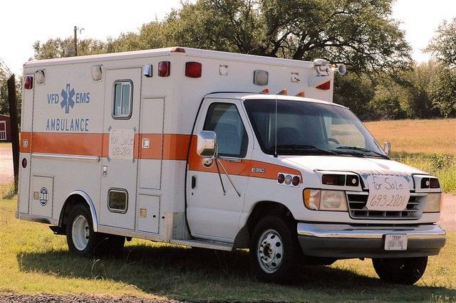An ambulance for sale.