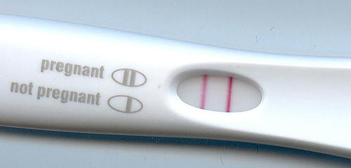 pregnancy test positive result