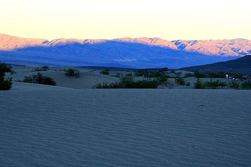 shadow of a dune in Death Valley