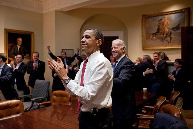 nd White House Staff react to the House of Representatives passing the bill on March 21, 2010.