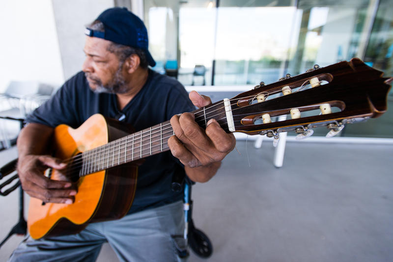 Every Wednesday residents can take part in a music jam session on the patio.