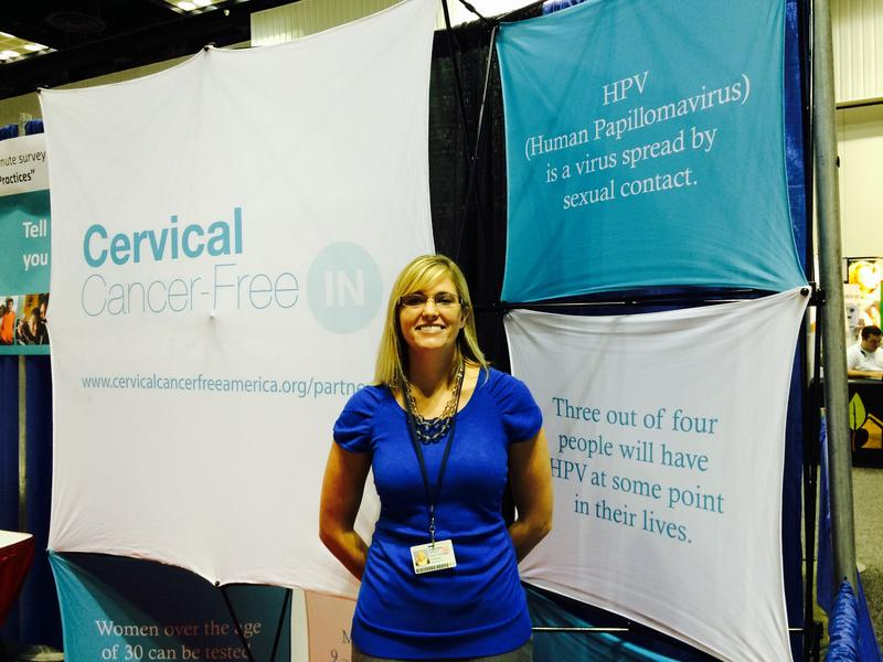 Researcher Monica Kasting conducted research at Indiana's annual Black Expo about beliefs and attitudes relating to cervical cancer.