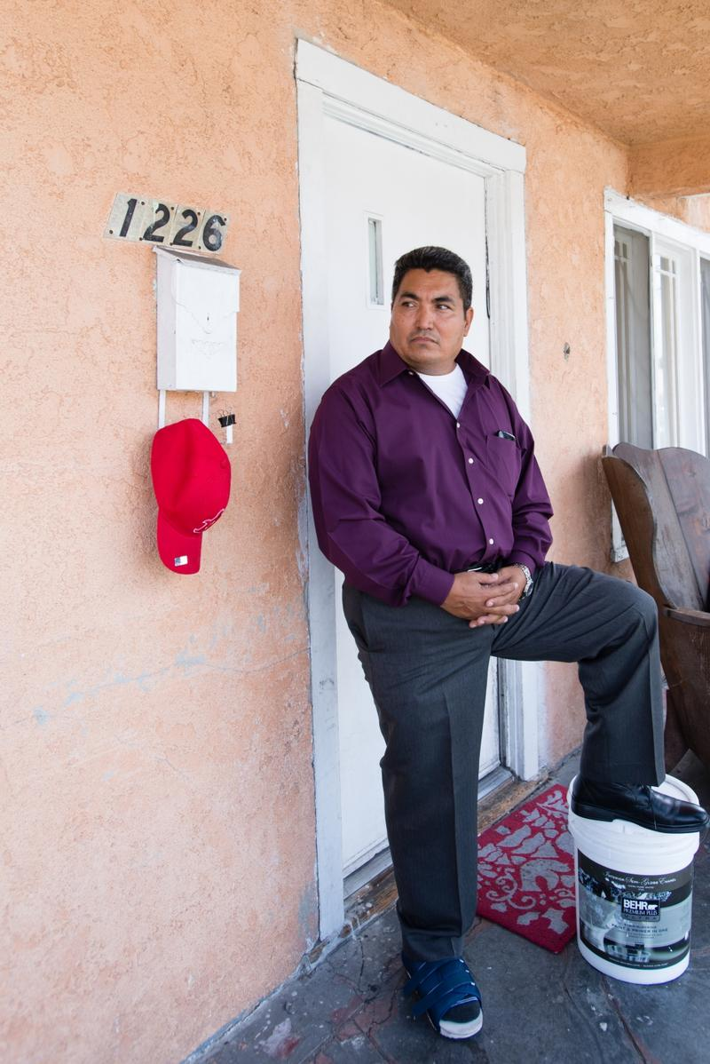 Miguel Dominguez, 51, at his home in East Los Angeles on Sept. 14, 2015. Dominguez is one of thousands of residents that live in the area affected by the Exide Technologies plant contamination.