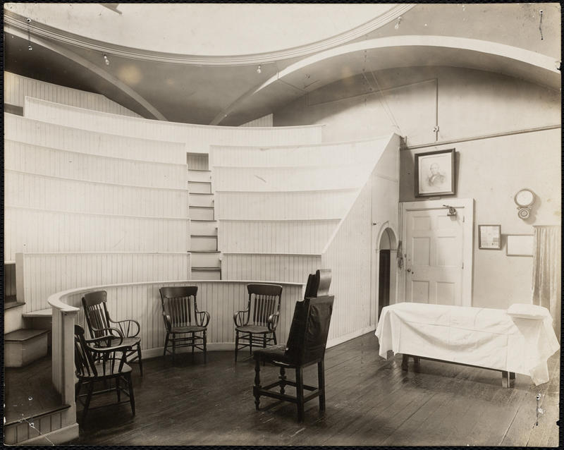 The Room at Massachusetts General Hospital where first operation with ether was performed.