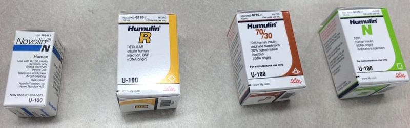 Insulins available over the counter are under the Humulin and Novolin brand names.