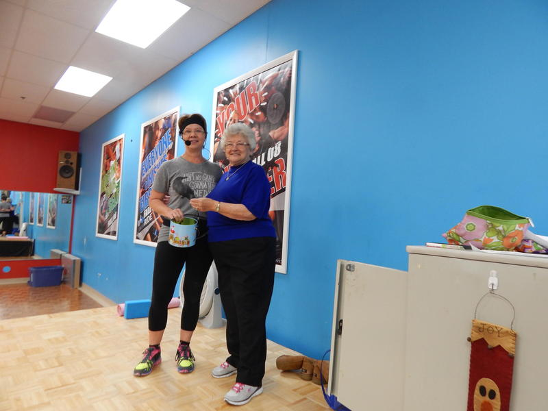 Catherine South, 79, with fitness instructor Marilyn Ruehlman at Fitworks in Beavercreek, Ohio.