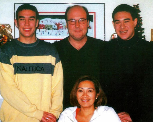 The Manlove family, Christmas, 2001.