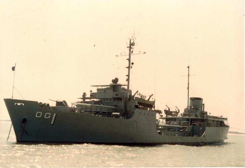 USS Patapsco  off shore of Cua Viet, 1967