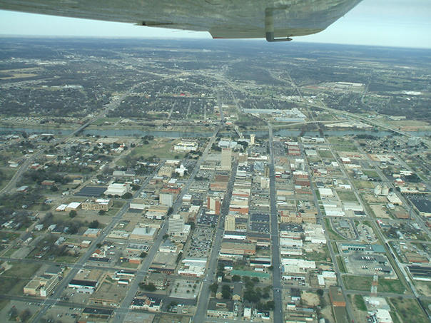 Downtown Waco, Texas, looking north.