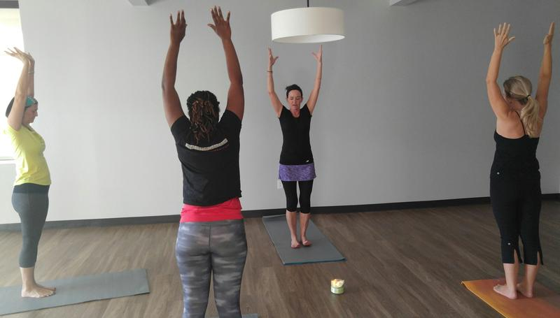 Harken Health members get free yoga at the clinic.
