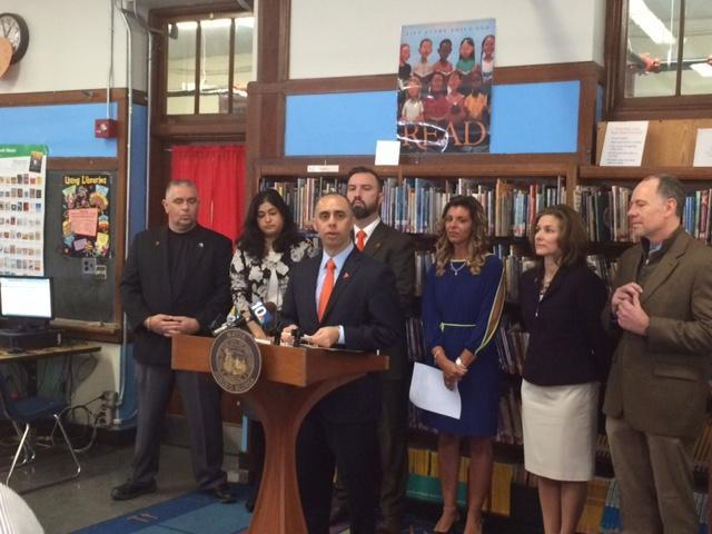 Mayor Jorge Elorza announces the new behavioral health program for Providence public schools.