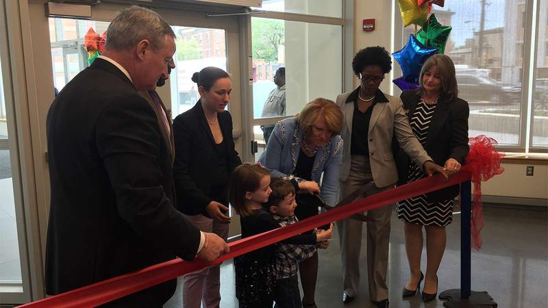 Ribbon cutting at the new  Health and Literacy Center in South Philadelphia.