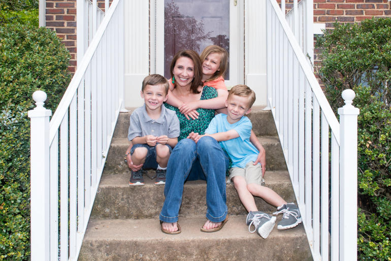 Annie Powell, 35, and her children, Cameron, 5, Emily, 8, and Jacob, 5, at their house in Sterling, Va., on May 7, 2016.