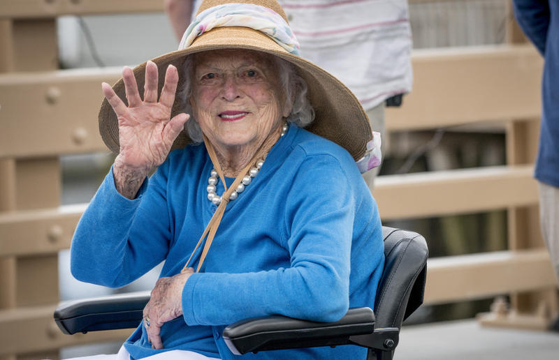 "Former first lady Barbara Bush, pictured here in May, has decided ""not to seek additional medical treatment and will focus on comfort care."""