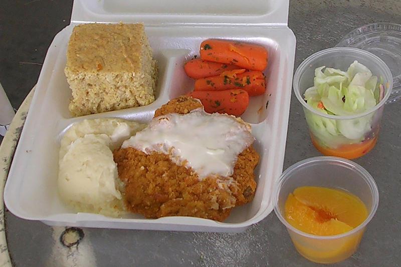 A Meals On Wheels meal, delivered in Sarasota, Florida.