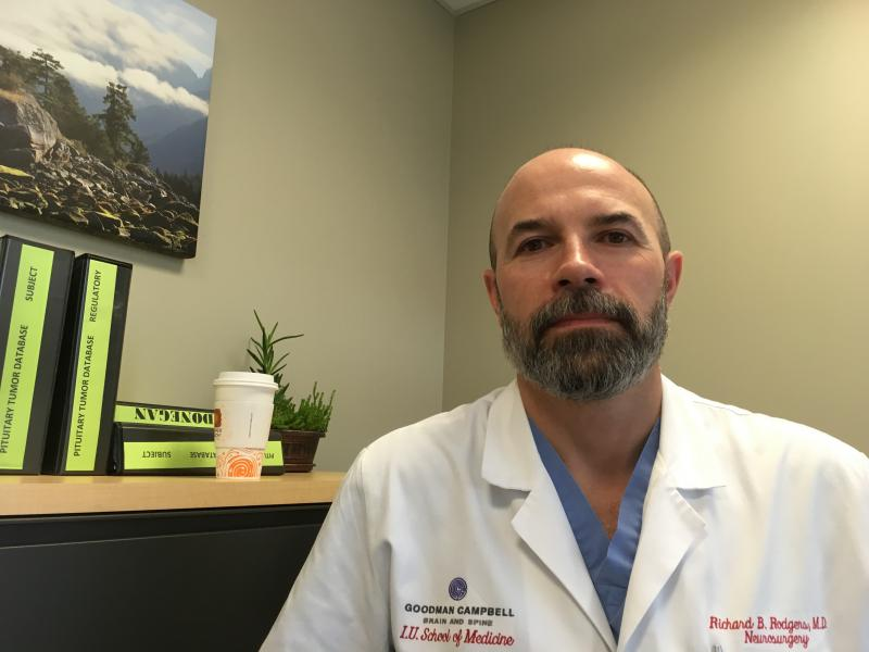 Dr. Ben Rodgers, assistant professor of neurological surgery at the Indiana University School of Medicine, has been outspoken about gun violence both before and after the NRA controversy.