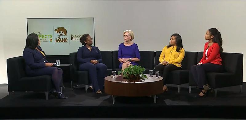 A panel of experts discussed Indiana's high rate of maternal and infant mortality, particularly among communities of color, at WFYI's studios on Dec. 11.