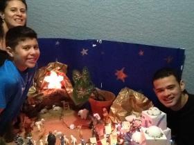 Maria Palacio and family celebrate the novena.