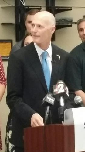 Gov. Rick Scott announces June employment Data at Shaw Development in Bonita Springs