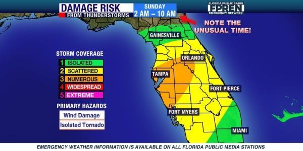 Florida Tornado Map.Elevated Tornado Risk Again In Southwest Florida Wgcu News