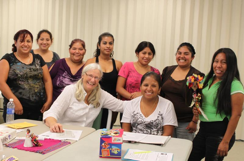 Genelle Grant (front, left) with Silvia (front, right) with members of the Family Health Class in North Fort Myers