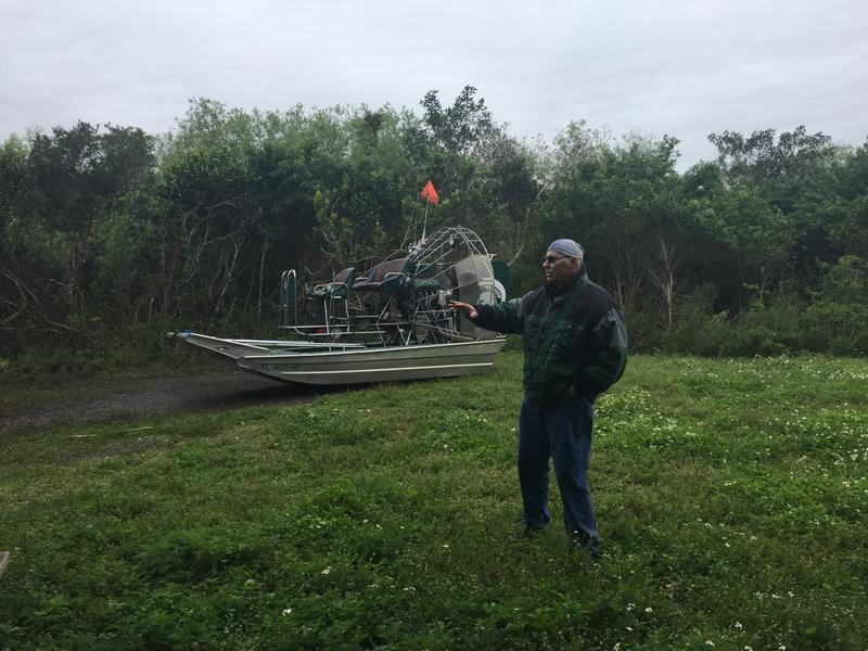 Carter Burrus explores the East Everglades Expansion Area. The park is phasing out private airboats here. Burrus and the Airboat Association of Florida hope to change the rules so future generations can still use private airboats.