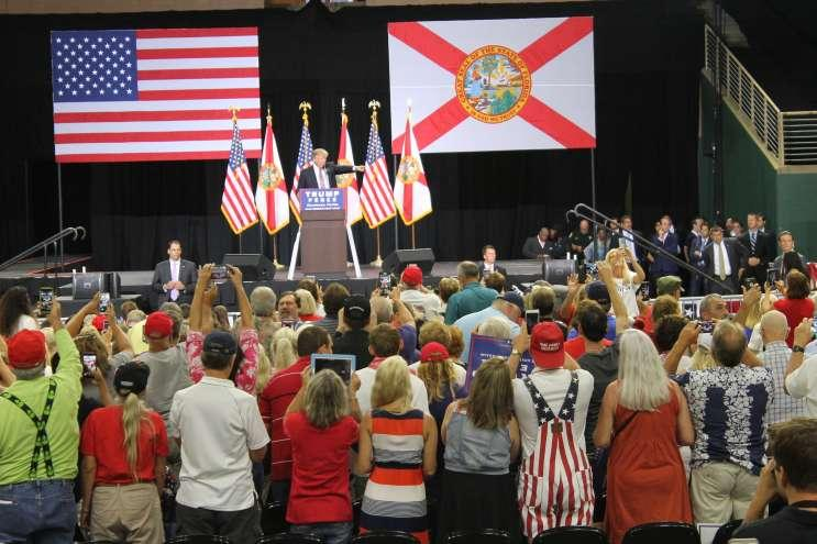 Trump addressed supporters at the Silver Spurs Arena in Kissimmee