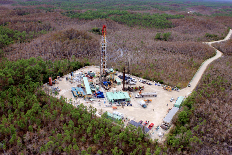 Ongoing oil and gas exploration and extraction in Big Cypress National Preserve.