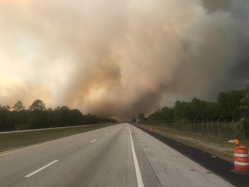 This photo was taken about 3:30 pm Tuesday along Interstate 75 near mile marker 99.
