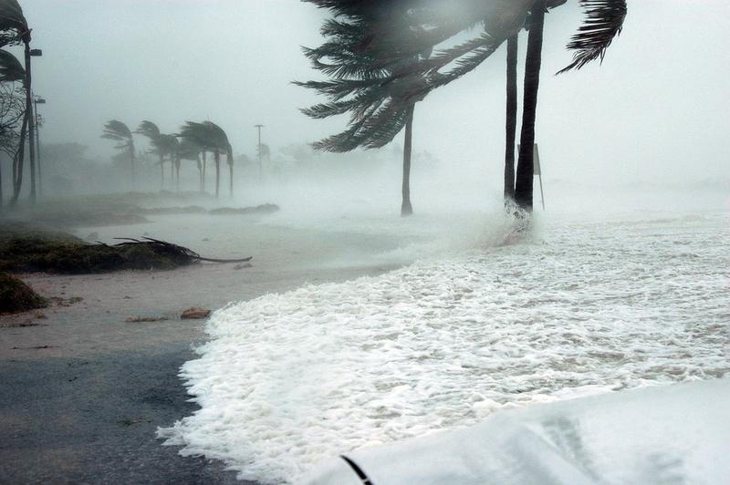 A storm surge in Key West during Hurricane Dennis in 2005.
