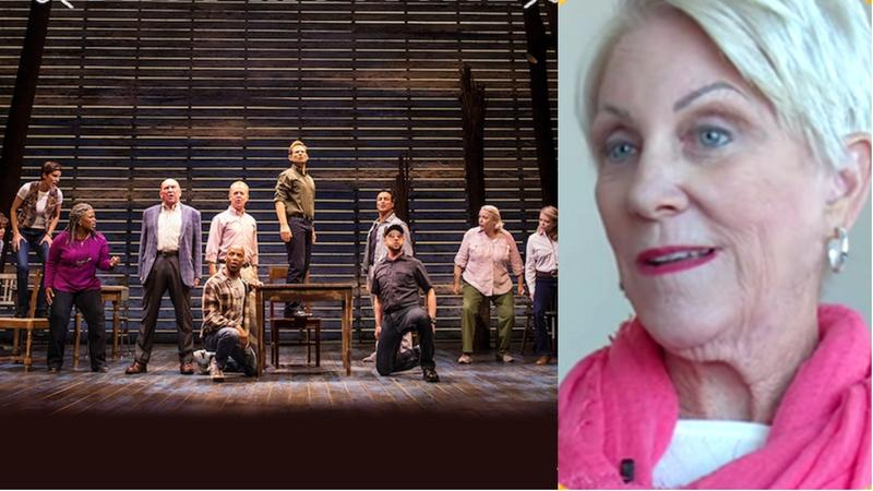The cast of Come From Away, a musical based in part on Fort Myers pilot Beverley Bass' life story.