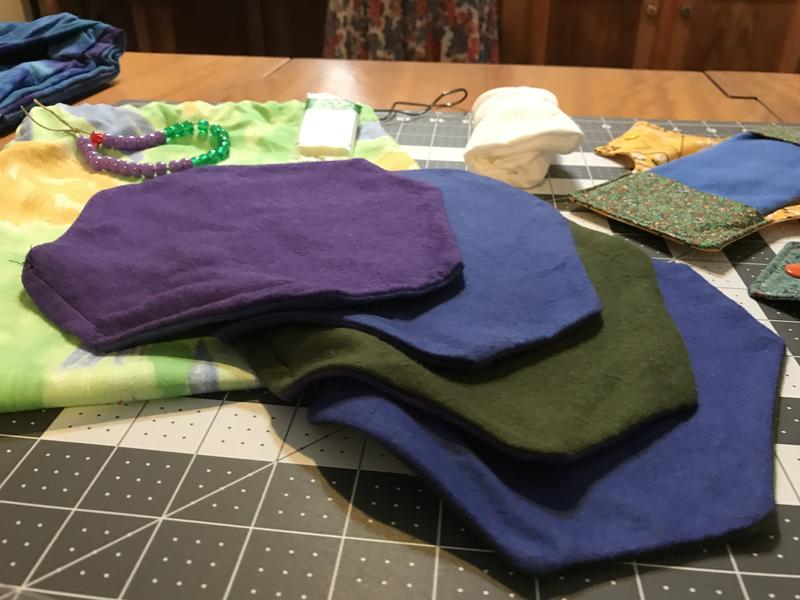 These are the washable, interchangeable flannel pads that slip into the cotton base.