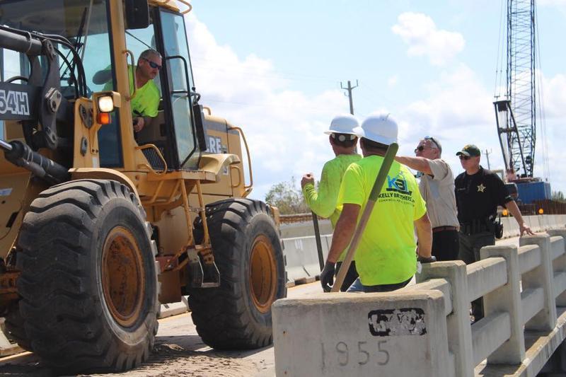Repairs to the Chokoloskee bridge are continuing. The bridge was damaged by Hurricane Irma.