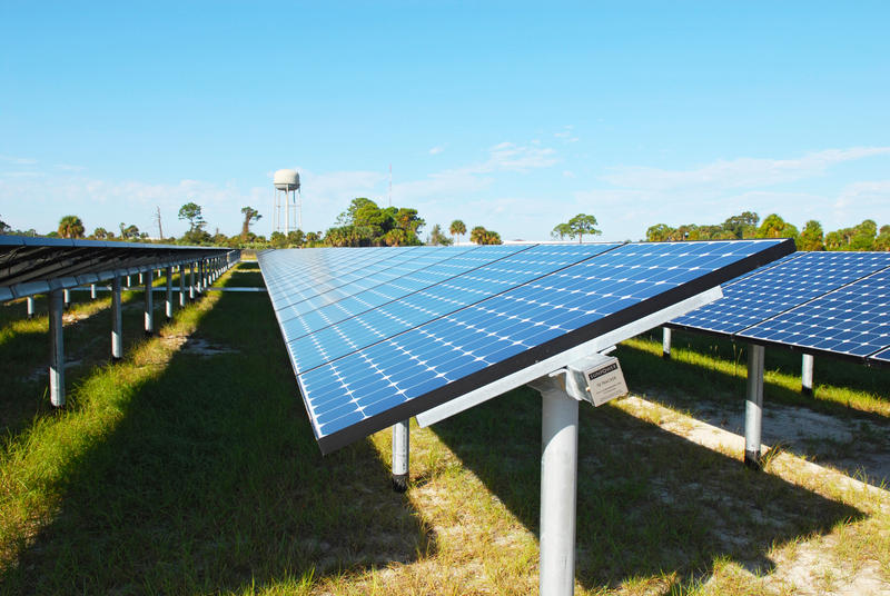 NASA's first large-scale solar power generation facility at Kennedy Space Center.