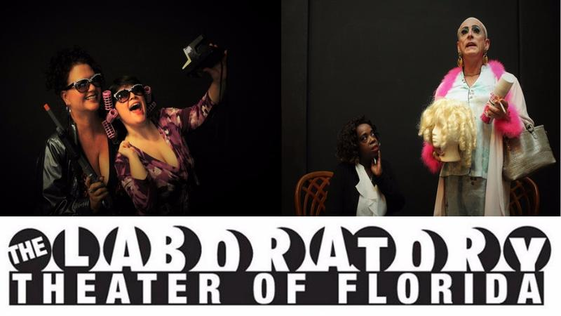 """Scenes from """"Sordid Lives"""" at the Laboratory Theater."""