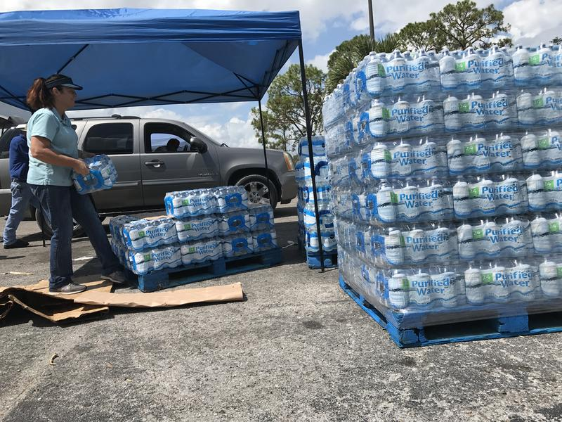 More than 50 volunteers have been sweating for days in their donation stations after Irma to get folks in-need food, water, ice, tarps, and baby supplies among others.