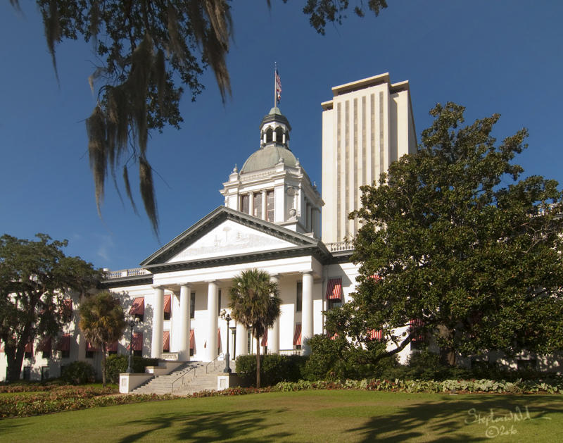 Florida's new and old capitol buildings