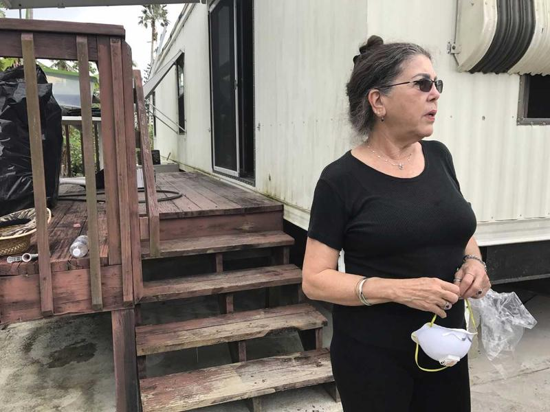 Adela Butler lives on Plantation Island. She and her husband need a new ceiling and floors for their trailer after Hurricane Irma storm surge pushed through their home. Butler said she applied for FEMA help nearly two months ago and hasn't heard back.