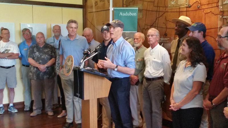 Gov. Rick Scott annouces environmental spending budget proposal at Audubon Corkscrew Swamp Sanctuary