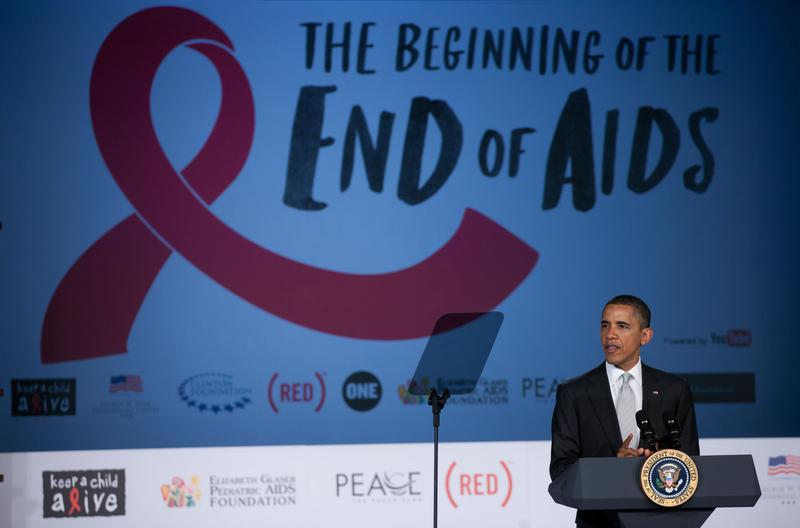 President Barack Obama speaks on World AIDS Day in 2011.