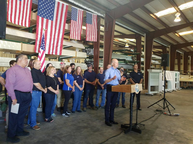Governor Scott announcing proposed tax cuts for Floridans.