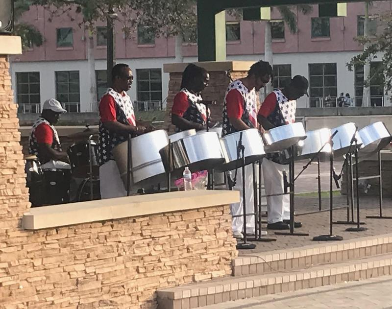 Steel drum band playing at FGCU.