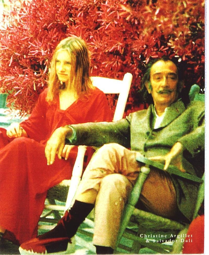 Christine Argillet with Salvador Dali