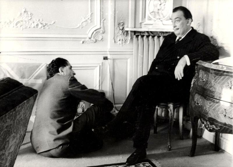 Salvador Dali with his long-time publisher Pierre Argillet