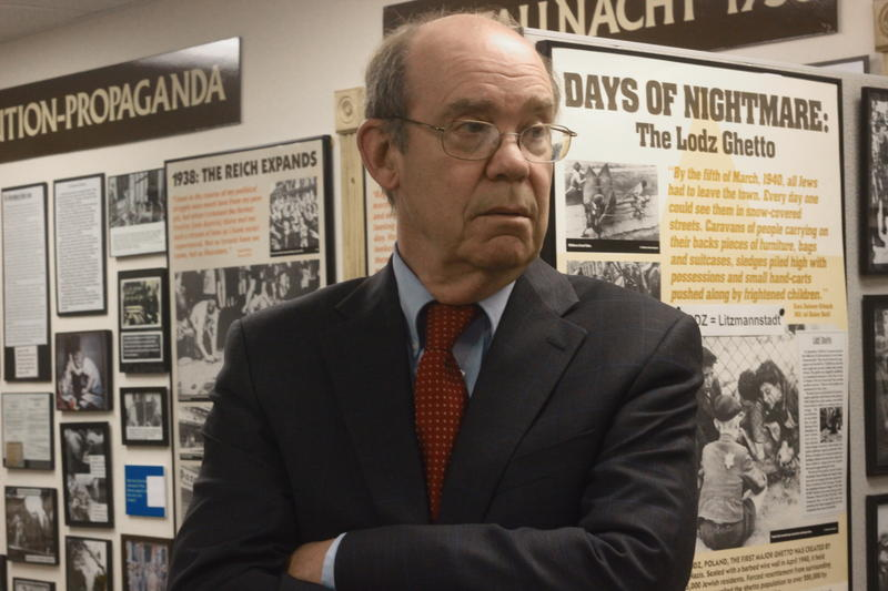 David Eisenhower visits the Holocaust Museum of Southwest Florida.