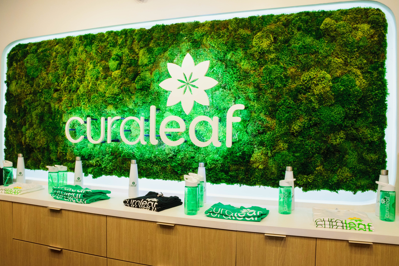 Curaleaf sign at Fort Myers dispensary