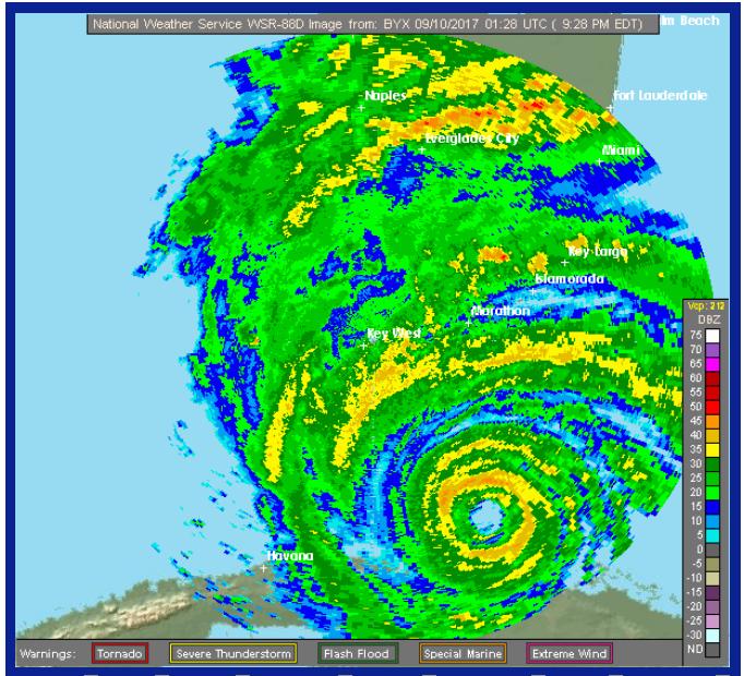 Hurricane Irma Passes Over Key West