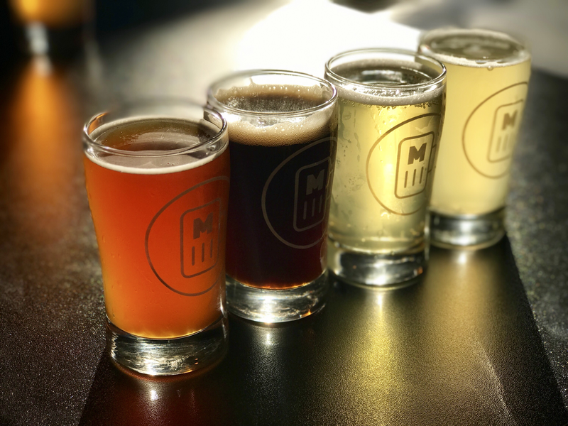 A flight of beer at Millennial Brewing Company in downtown Fort Myers