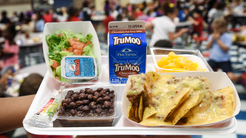 One of the meals provided by the USDA Food and Nutrition Service to Texas students after Hurricane Harvey