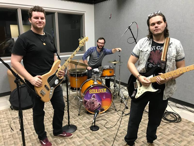 Soulxier band members (from left) Mason Reinek, Cayce Dillard and Thomas O'Brien